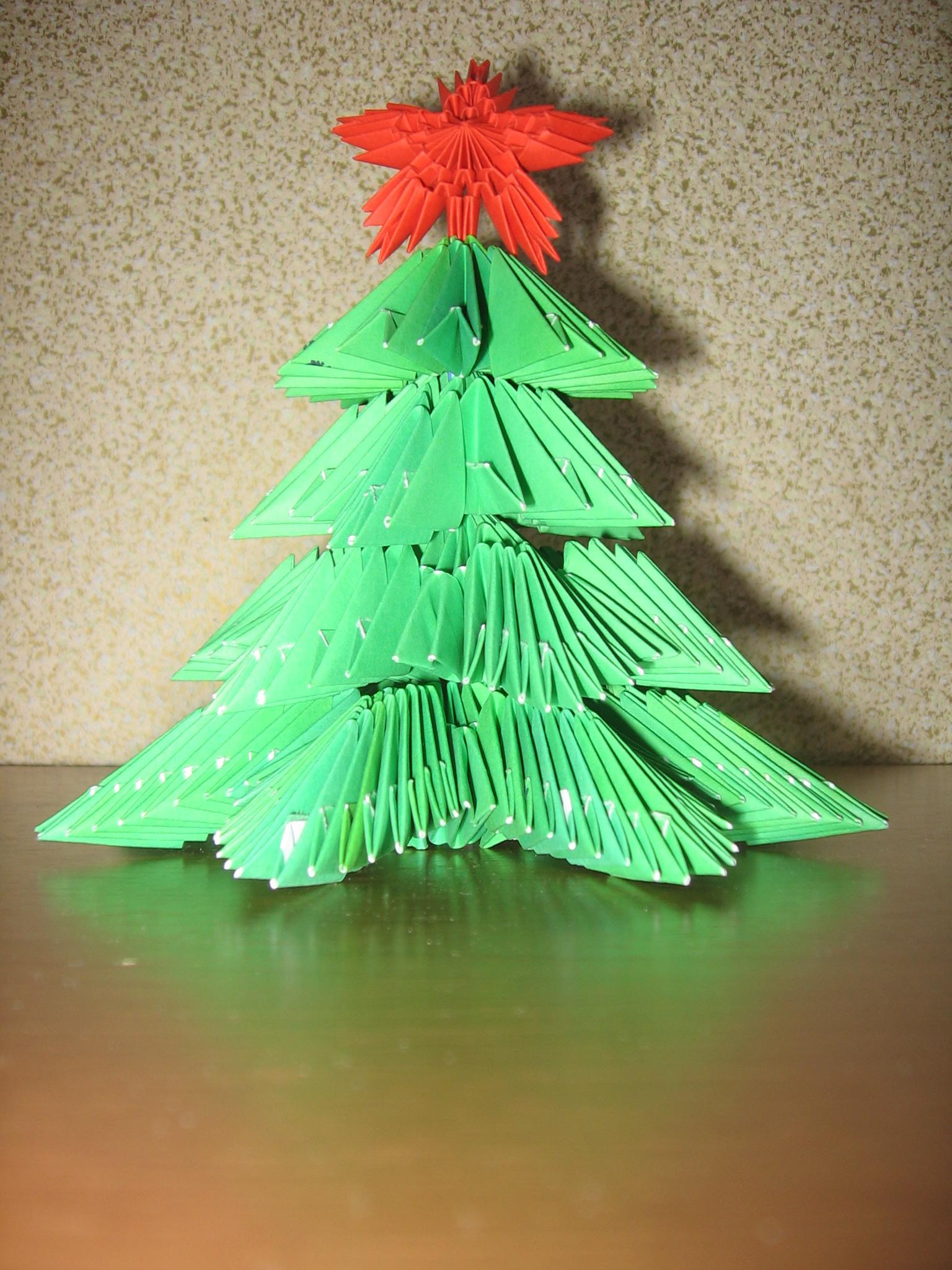 Как сделать елку оригами модулями
